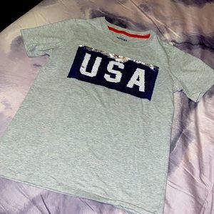 USA Crew neck T-Shirt